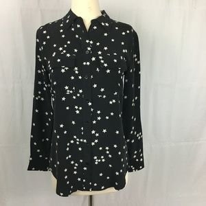 Equipment Slim Signature Silk Blouse Star Print XS